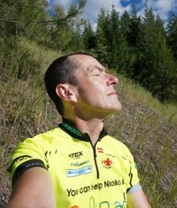 Pausen werden zum Sonnen genützt, damit man keine Radlfahrerbräune bekommt