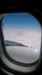 über den Wolken zwischen Paris und Vancouver
