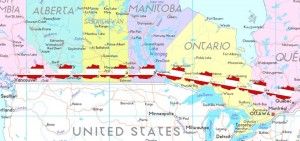 Die geplante Strecke ist zehnmal länger als Österreich von West nach Ost