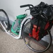 Kickbike Tour Max 28 mit vollem Gepäck