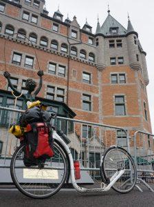 Quebec-City, Quebec. Chuck Jelen am Ziel
