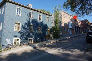 Quebec-City, Quebec: teilweise sehr steile Straßen