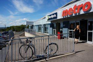 Quebec-City, Quebec: Metro Markt. Und ein letztes Foto mit den tollen Wolken