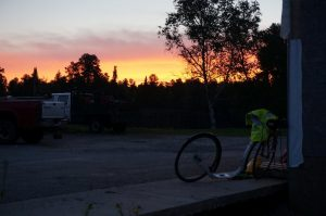 Sonnenaufgang und Chuck Jelen