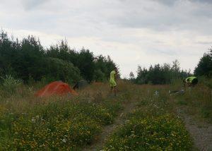 Wildcampen nach 138 km. Nächster Ort erst in 50km und einsetzender Regen