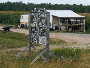 Straßenverkauf der Amish People, Echo Bay, Ontario