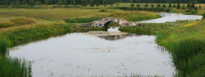 Steinbrücke zwiischen Massey und Espanola, Ontario
