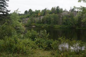 Aussicht vom Zelt aus, irgendwo nach Espanola, Ontario