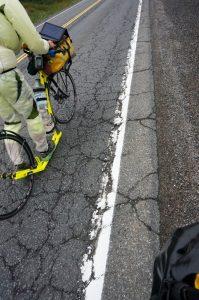 schlechter Straßenzustand zwischen Nairn und Sudbury, Ontario