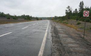 Radfahrverbot vor Sudbury, Ontario
