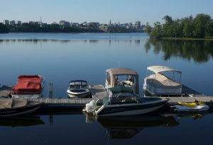 Gatineau, Quebec. Blick nach Ottawa