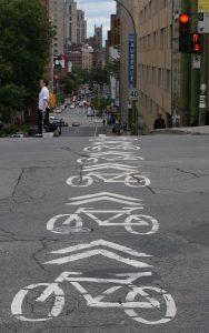 Montreal, Quebec: damit Radfahrer wirklich wissen, wo es weiter geht...