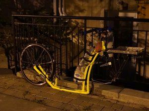 Montreal, Quebec. Oh, wurde Josef das Vorderrad gestohlen?