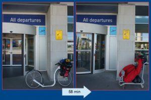 Flughafen Quebec-City. In 58 Minuten alles umgebaut