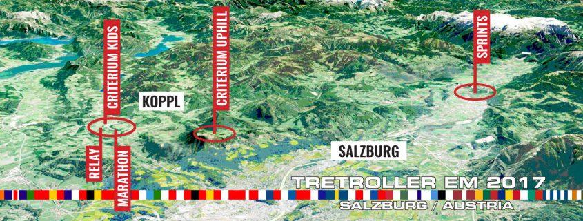 Tretroller EM 2017 Veranstaltungsorte