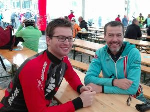 Niklas und Guido nach dem Rennen (2017)